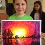 Jasmin malt Hochwasser